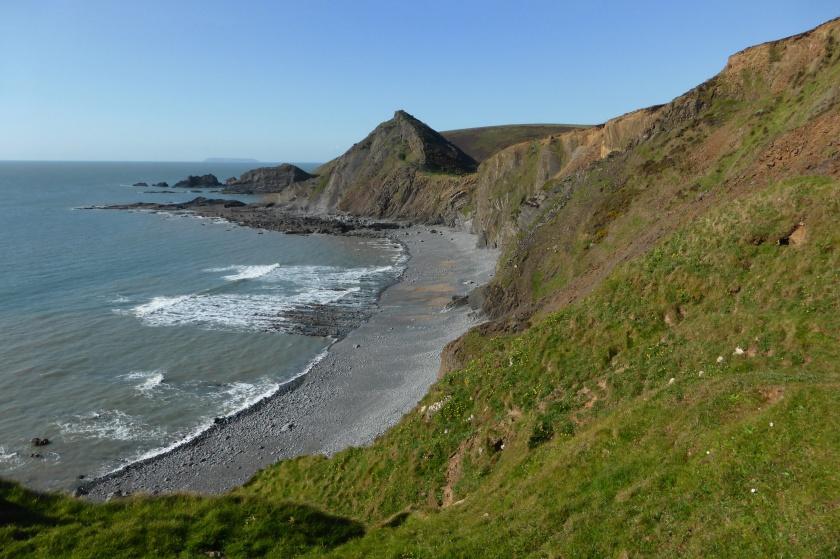 The Devon coast near Hartland Quay