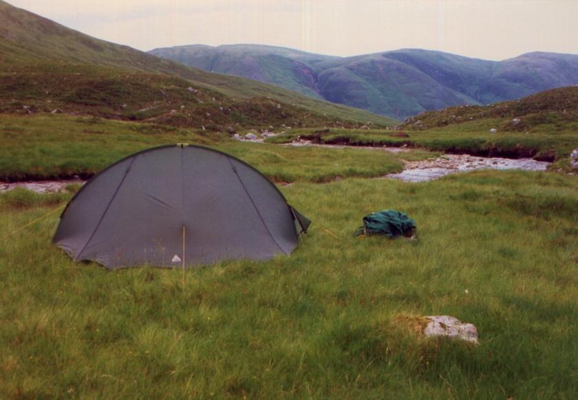 1995 July wild camping near Sgurr a Chaorachain