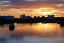 2017 May Salford Quays sunset (1)