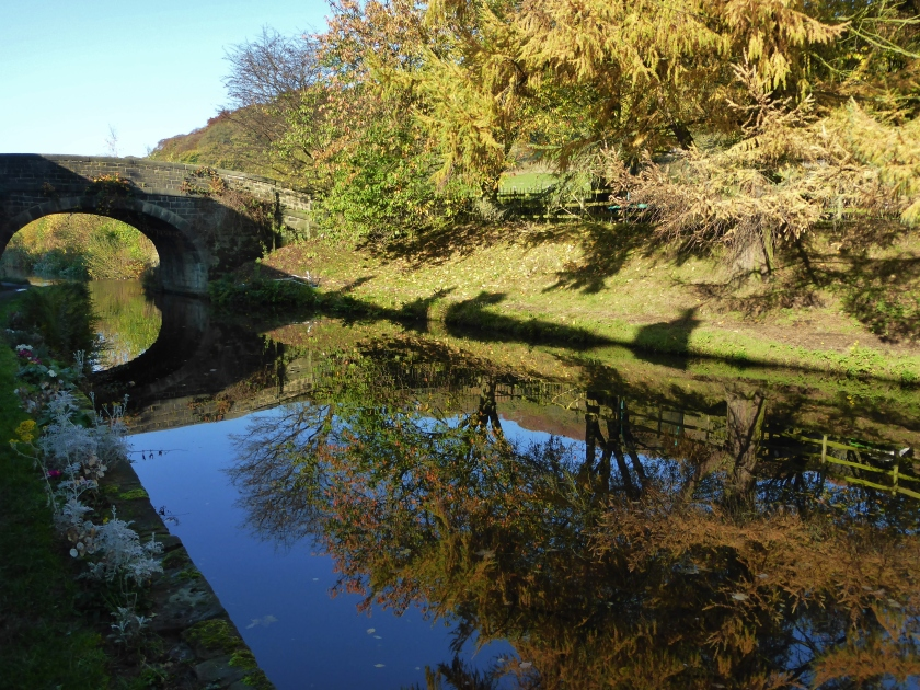 The canal between Mytholmroyd and Hebden Bridge