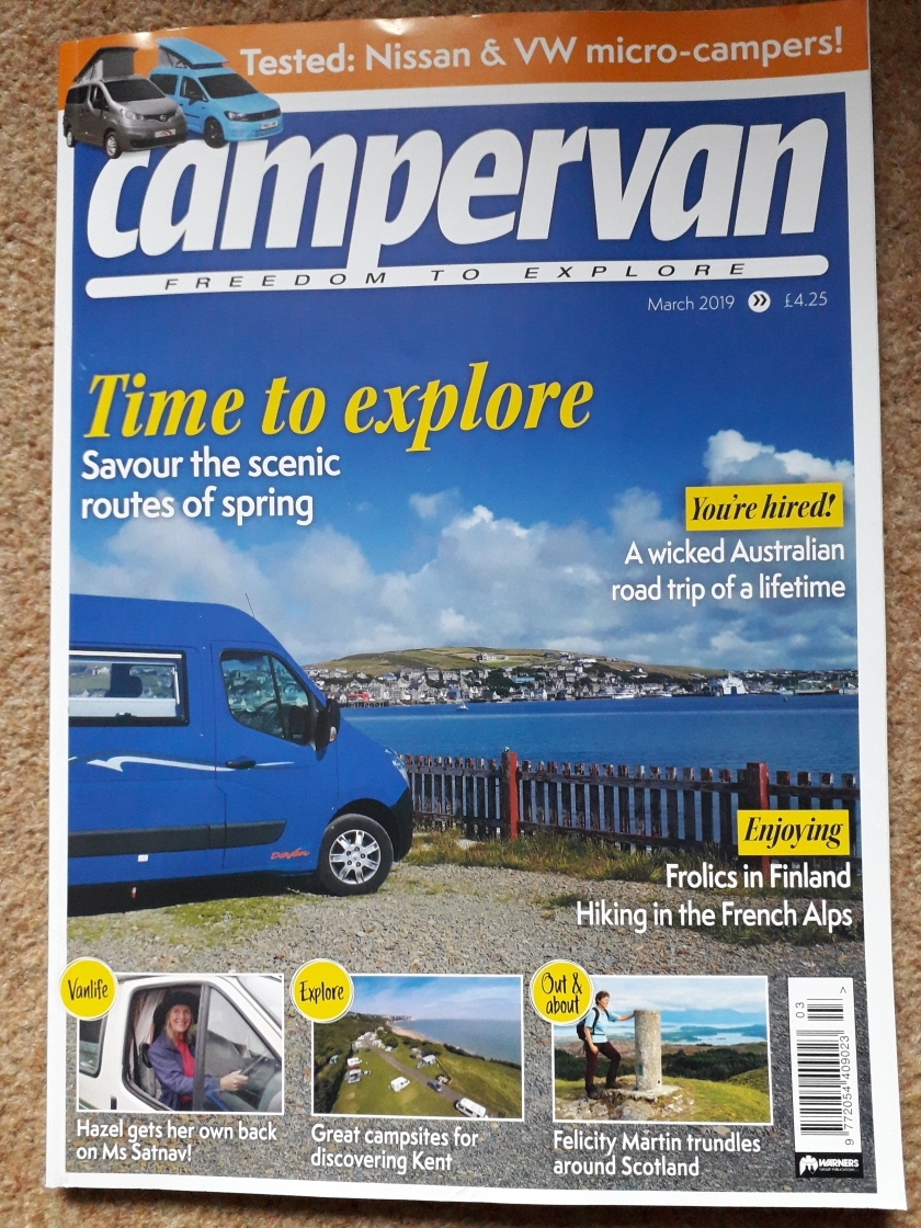 Campervan cover March 2019