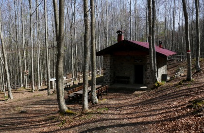 A refuge in the beech woods on the slopes of Monte Ventasso