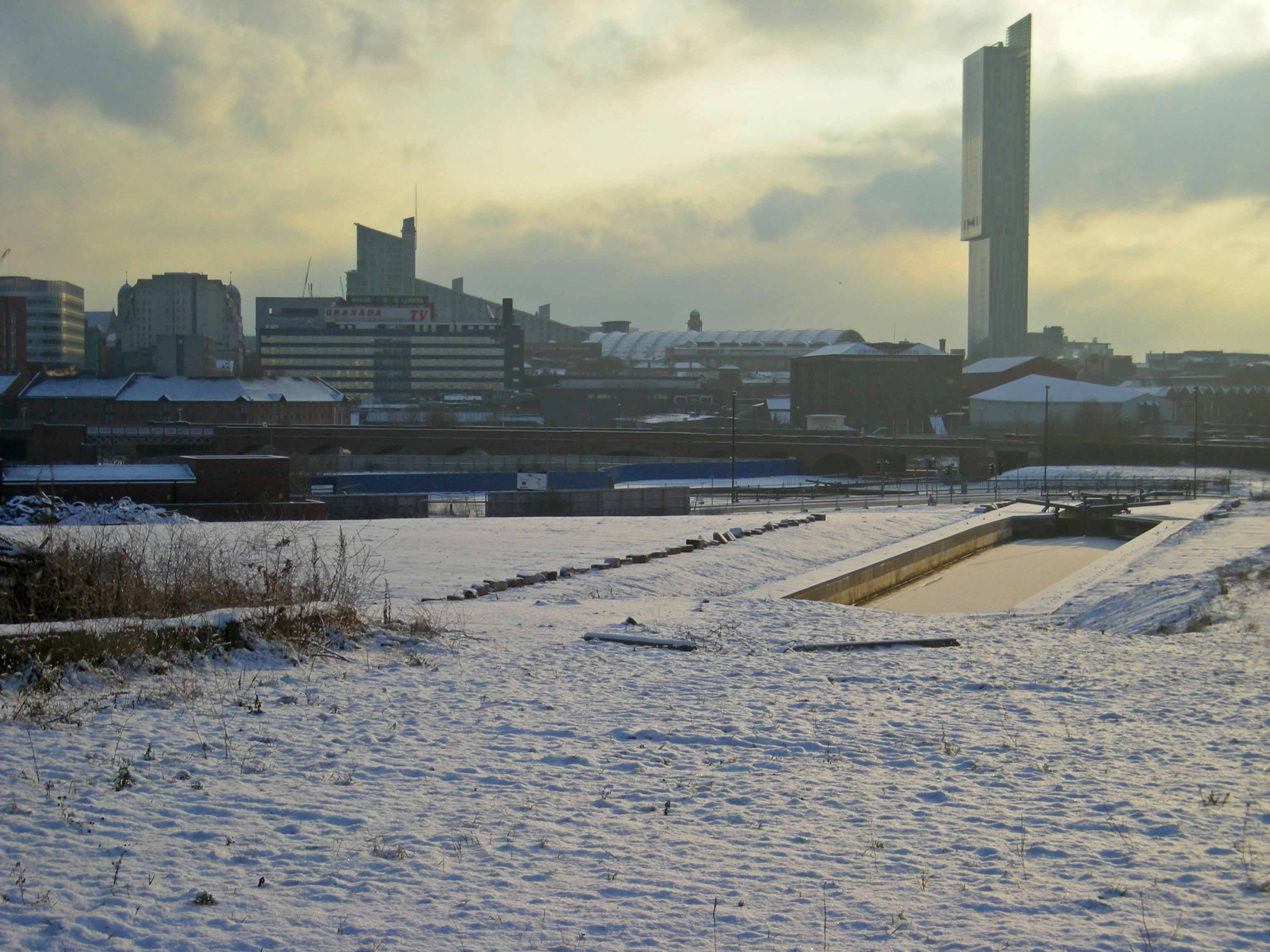 Salford in snow 2 Feb 200904