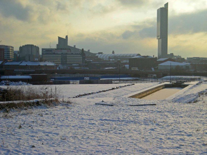 Salford in snow 2 Feb 200904