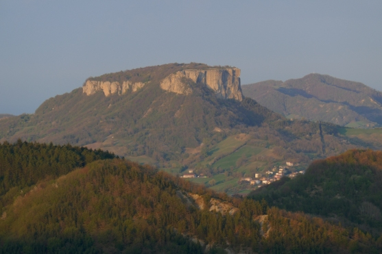 The view from Camping Le Fonte of Pietra di Bismantova